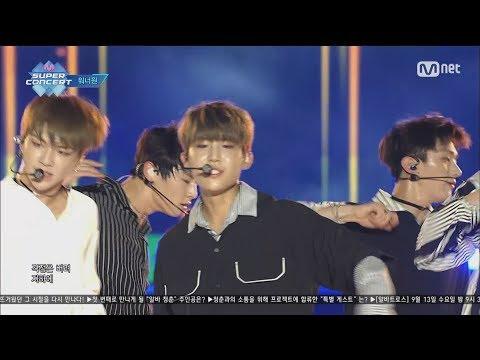 170910 Wanna One - Pick Me (Nayana) + Burn It Up + Energetic @ Mnet Super Concert