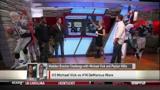 ESPN's Sports Nation breaks down the Madden NFL 12 Cover Vote Bracket