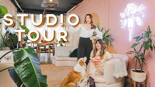 Inside The Sorry Girls Cozy Industrial YouTube Studio