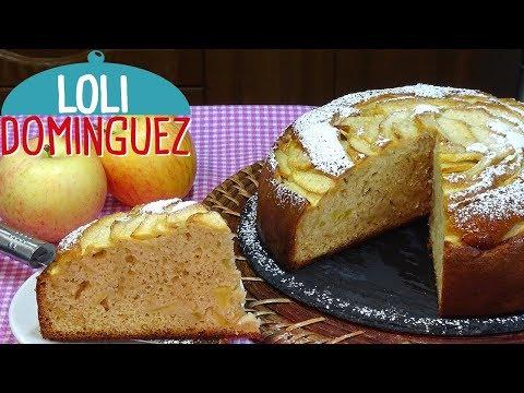 Bizcocho de nata y manzana s�per jugoso y muy f�cil. Recetas paso a paso, tutorial. Loli Dom�nguez