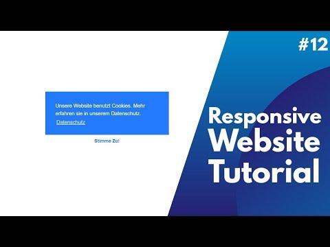 Responsive Website Tutorial #13 |  Cookie Hinweis