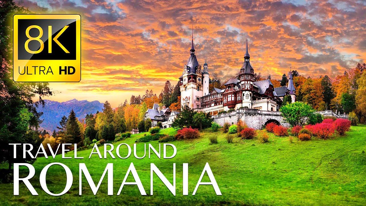 ROMANIA 8K • Beautiful Scenery, Relaxing Music & Nature Drone Video in 8K ULTRA HD