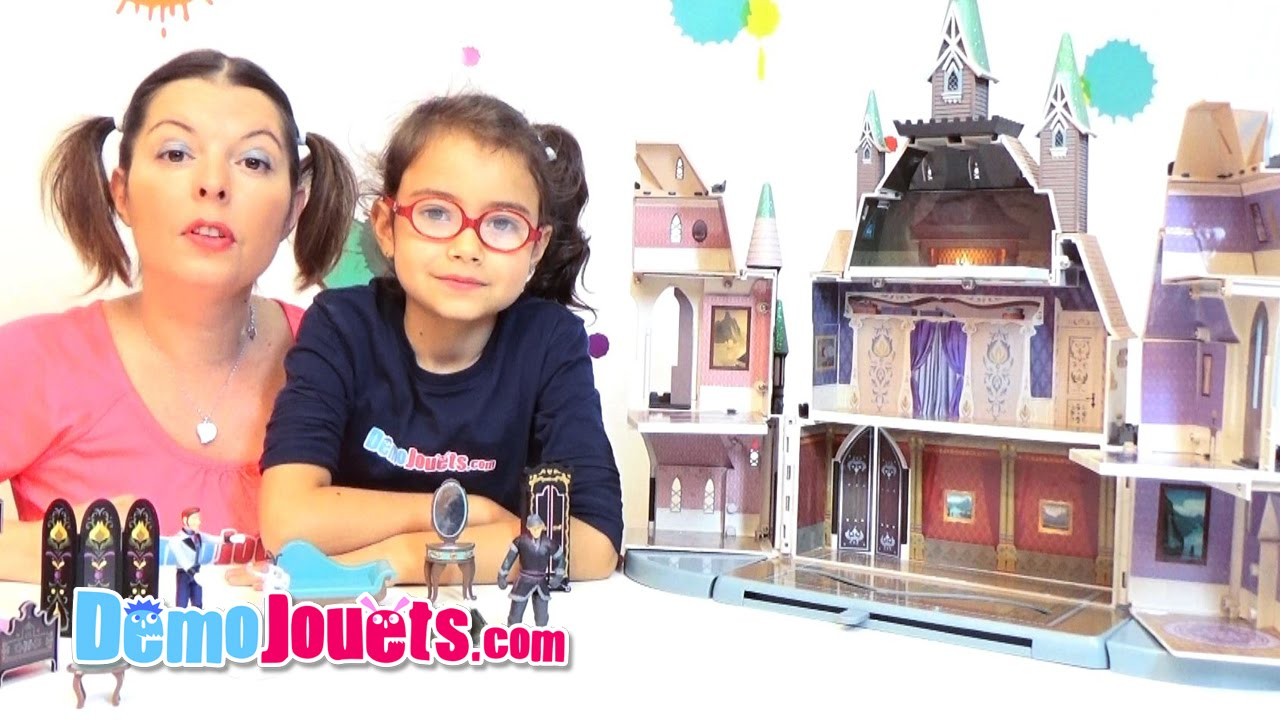 jouet ch teau reine des neiges disney demo jouets youtube. Black Bedroom Furniture Sets. Home Design Ideas