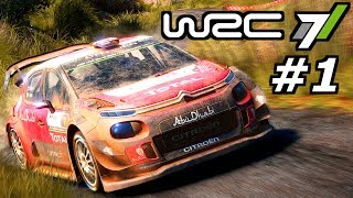 WRC 7 KARRIERE Gameplay German #1 – Junior WRC Einstieg – World Rally Championship Lets Play Deutsch