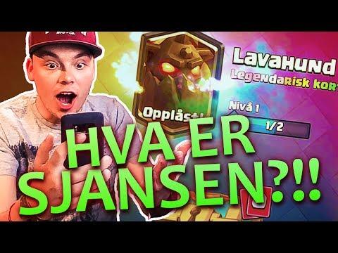 OPNER OPP EN LEGENDARY!   Clash Royale   Norsk Gaming