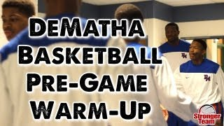 dematha basketball pre game warm up