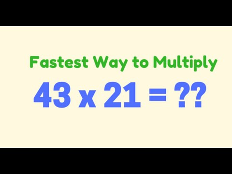 Trick 1 : Fast Math to multiply numbers -- 2 Digit Numbers ...