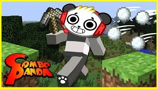 MINECRAFT EPIC SNOWBALL FIGHT BATTLE Mini game!!! Let's Play with Combo Panda