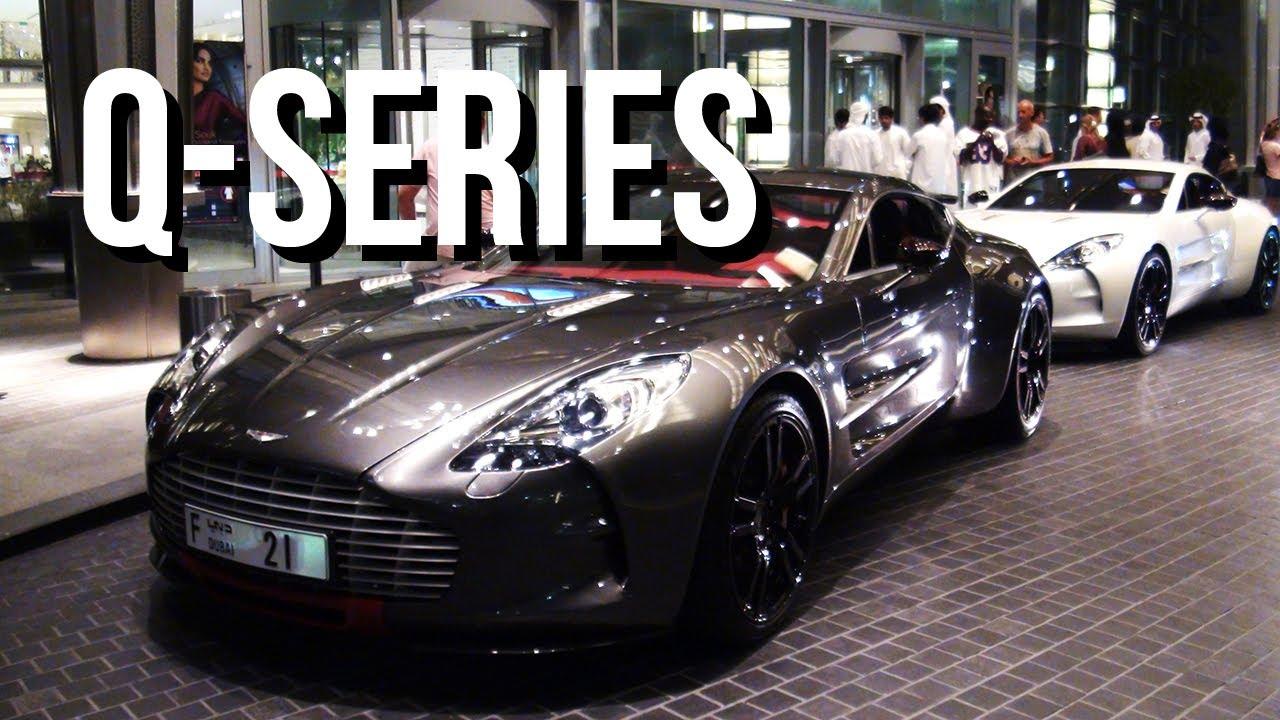 2 Aston Martin One-77 Q-Series at Dubai Mall - YouTube