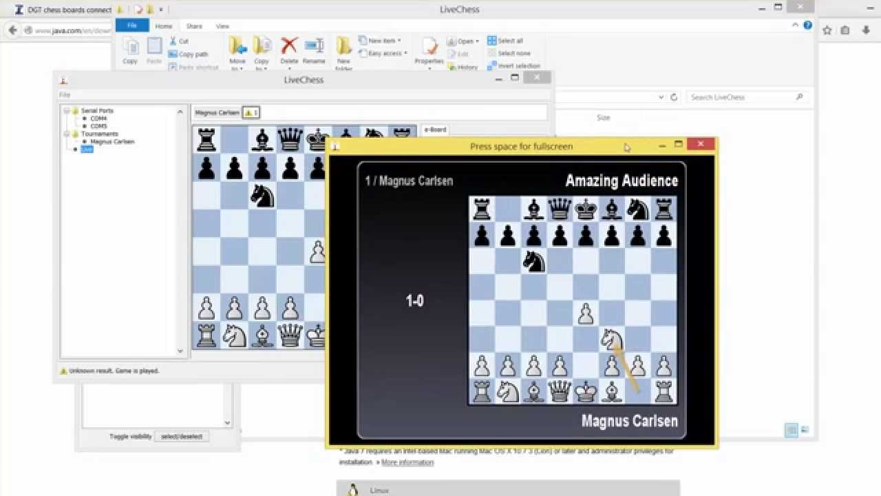 How to Run Live Chess Presentation on DGT Chess Board