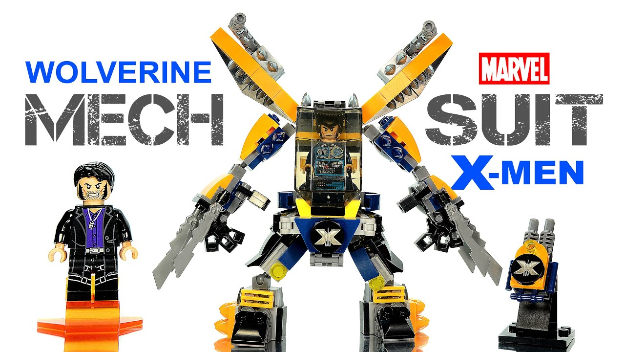 X-Men Wolverine Mech Suit vs Sabertooth LEGO KnockOff ...