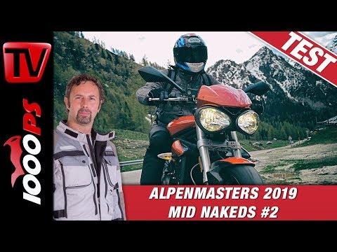 Triumph Street Triple S 660 im Alpenmasters Test - Vergleich - Naked Bike Mittelklasse 2/4