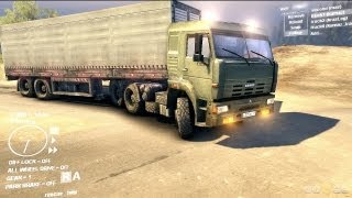 Spin Tires Dev Demo July 2013 - Kamaz + Curtain Trailer Test Drive