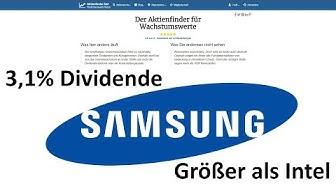 Samsung – Techgigant mit 3,1% Dividende zum Schnäppchenpreis?
