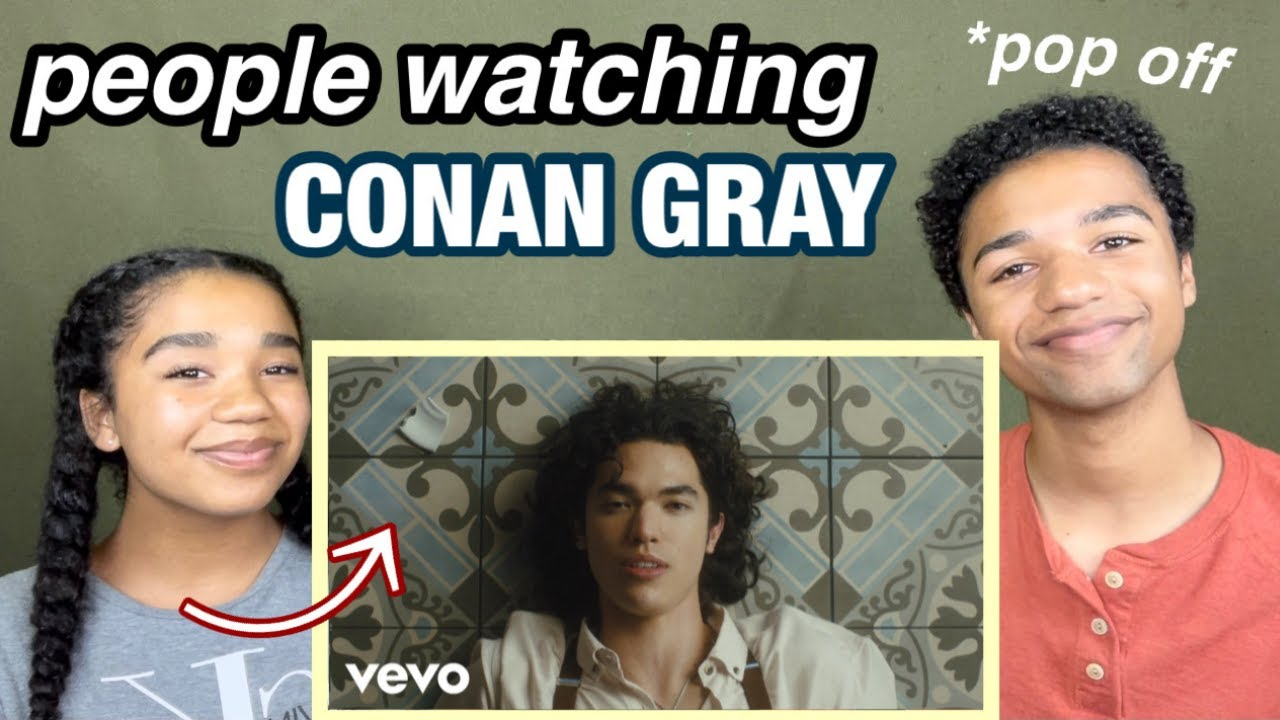 """Reaction to """"People Watching"""" - Conan Gray   josiah and whitley"""