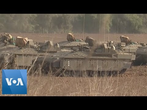 Israeli Armored Vehicles Arrive at Gaza Border