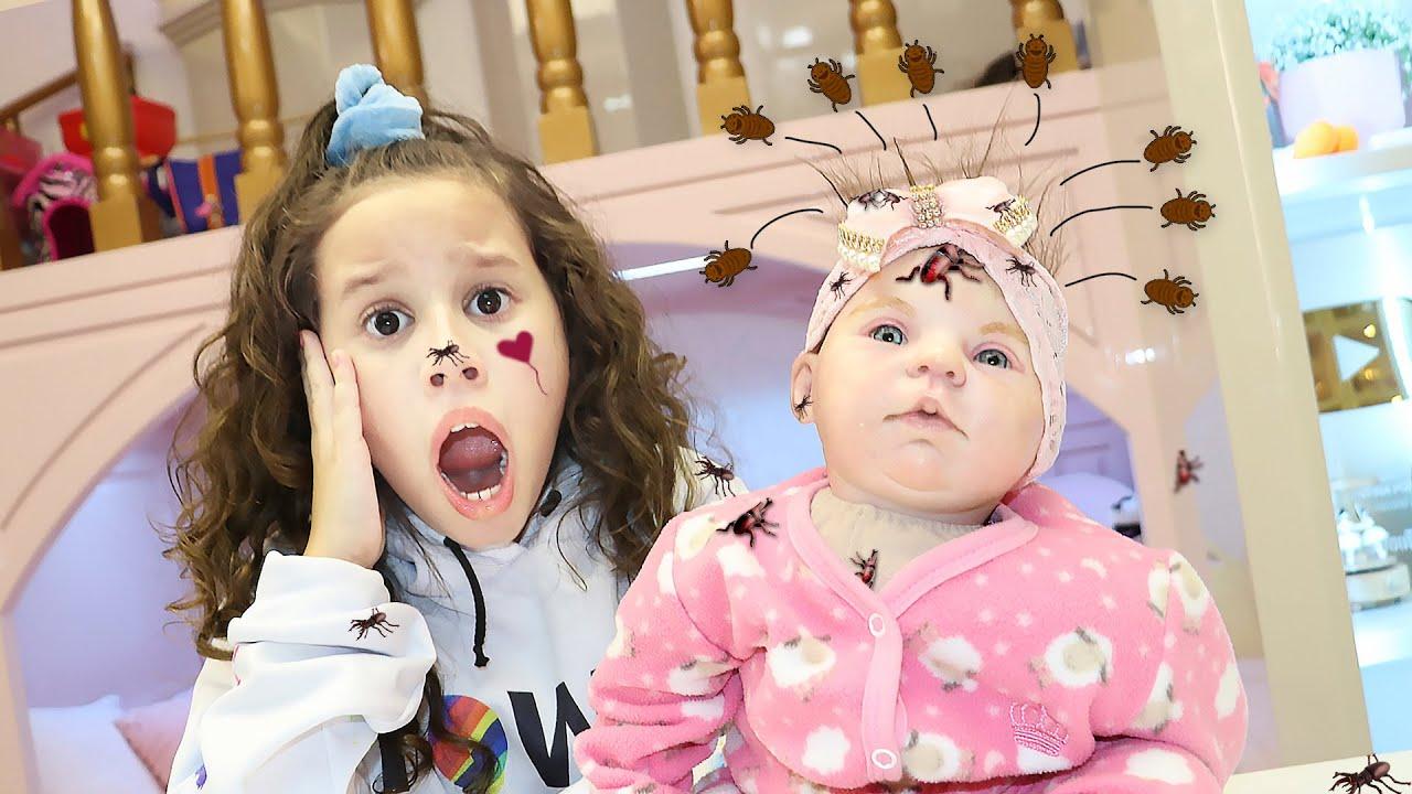 Minha BEBÊ reborn pegou piolho e agora? My doll caught lice and now?