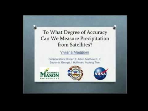 To what degree of accuracy can we measure precipitation from satellites?