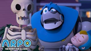 Arpo the Robot | Don't Wake the BABY!!! | Halloween Special | Trick or Treat