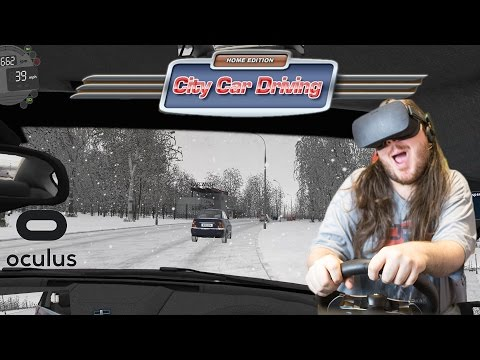 The Future Of Learning To Drive | City Car Driving | Oculus Rift