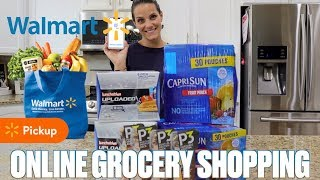 TRYING WALMART ONLINE GROCERY PICKUP FOR THE FIRST TIME | GROCERY SHOPPING ONLINE