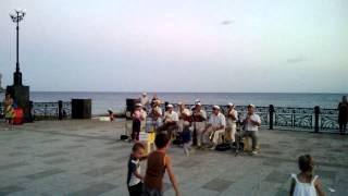 Набережная Судака, Прощание Славянки, июль 2013