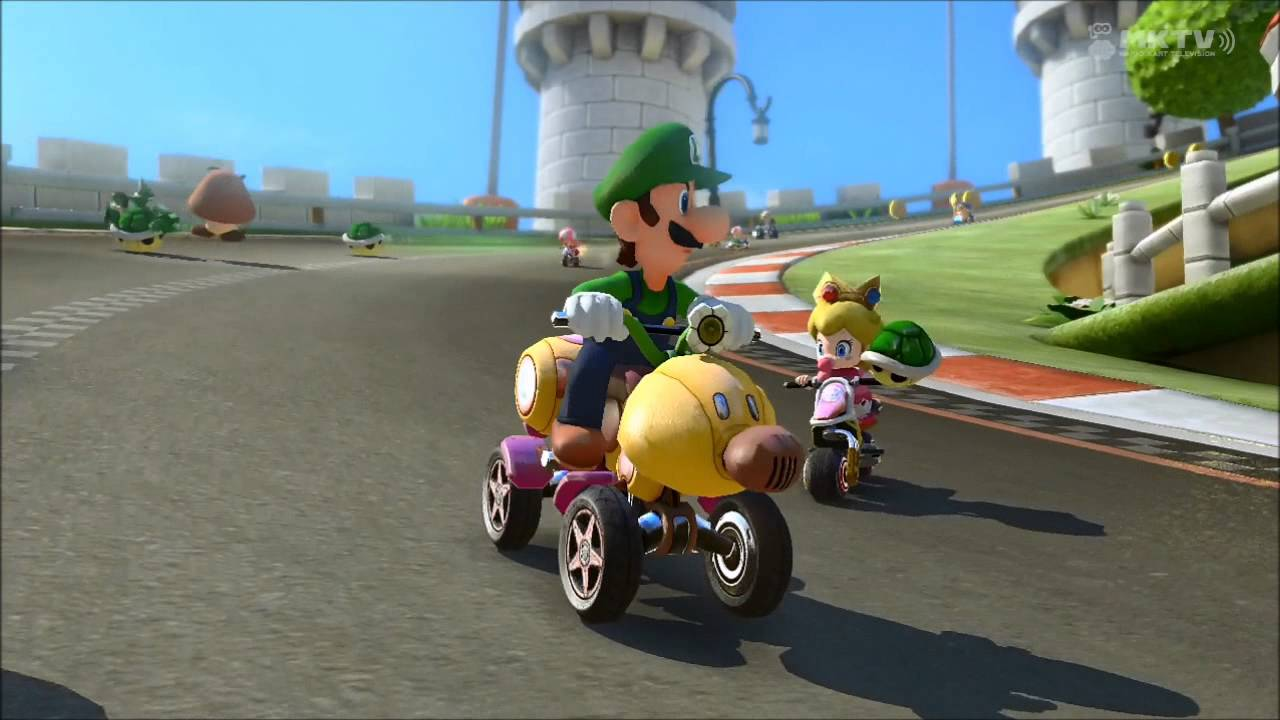 Creepy Luigi death stare #2 [Mario Kart 8]