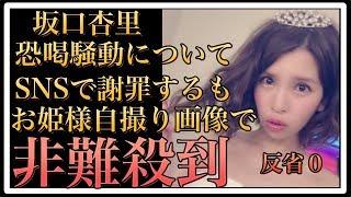 【衝撃】坂口杏里がSNSで恐喝騒動を謝罪も「お姫様自撮り画像」に非難の...
