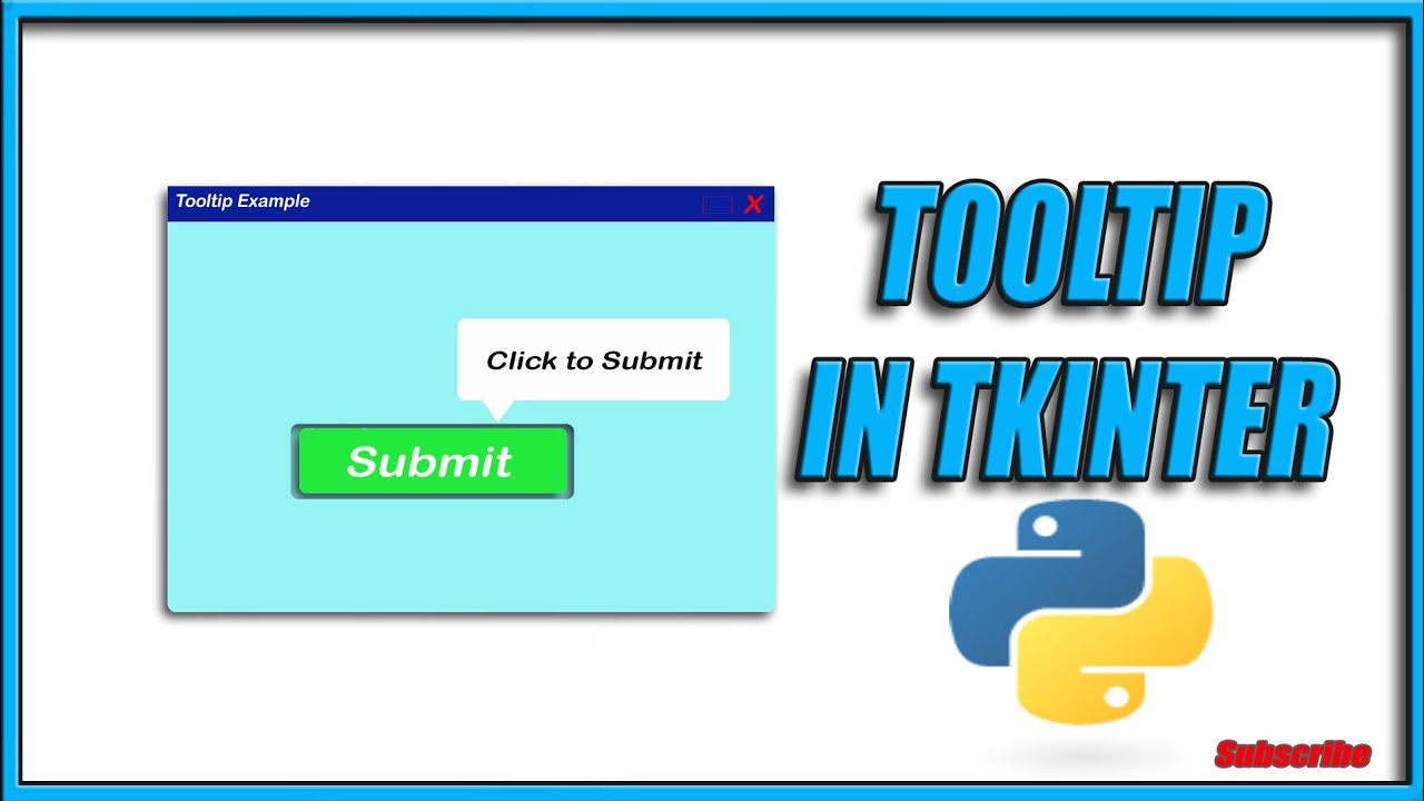 ToolTip in Tkinter    How to make balloon in tkinter    Python GUI Tutorials    CID