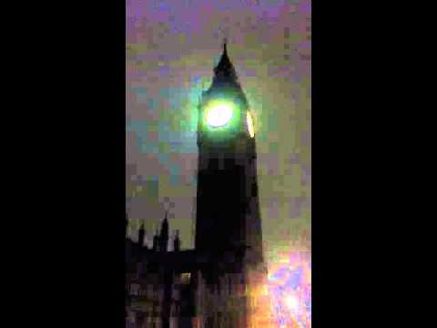 Big Ben strikes twelve