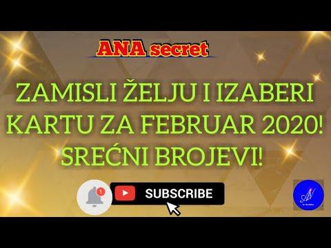 ZAMISLI ŽELJU I IZABERI KARTU ZA FEBRUAR 2020! SREĆNI BROJEVI! #anasecret #horoskop #tarot
