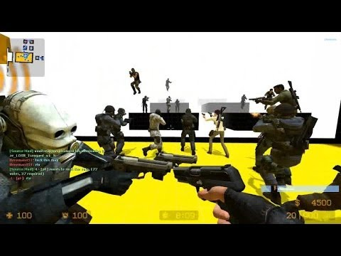 Counter Strike Source Zombie Escape mod online gameplay on Kraznov Poopata map
