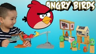 Angry Birds Sling And Smash Track Set Toys Unboxing Fun With Ckn Toys