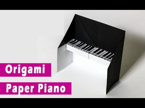 how to make origami paper Piano?