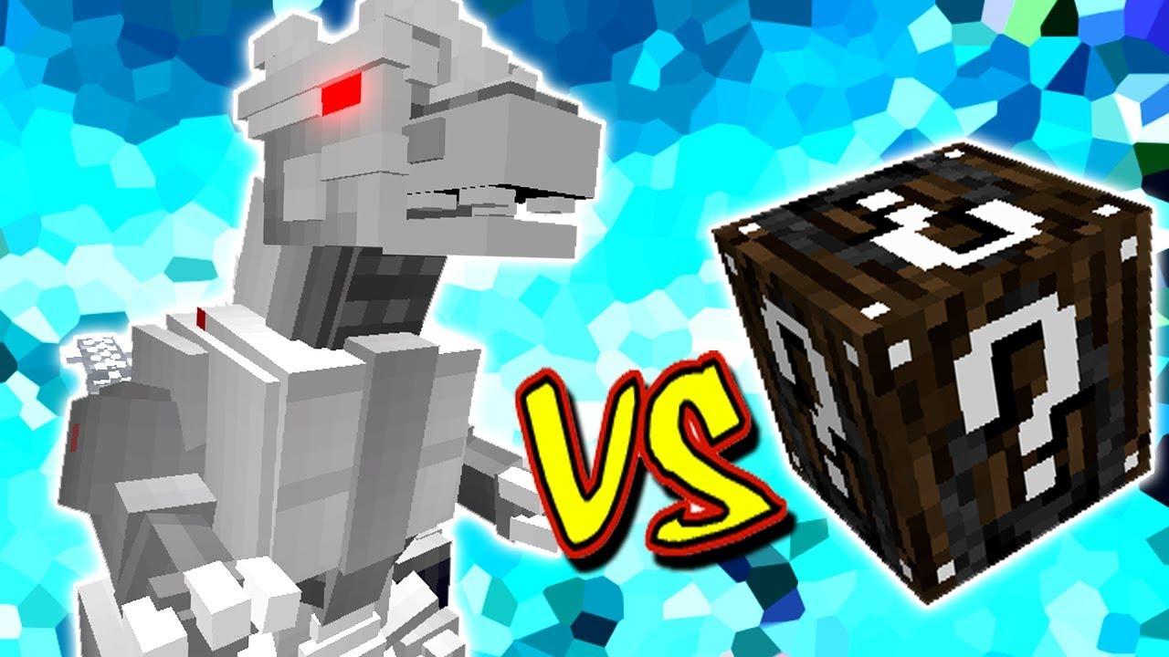 Godzilla Mecanico Gigante Vs Lucky Block Especial Minecraft