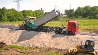 Strassenbau in Papenburg / Road Construction in Papenburg (Germany)