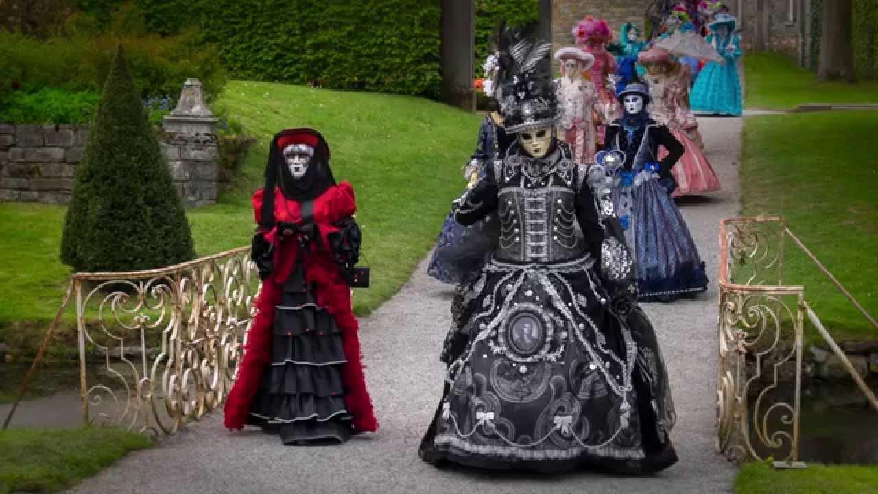 Les costum s de venise aux jardins d 39 annevoie 2015 youtube for Jardin annevoie venise 2015