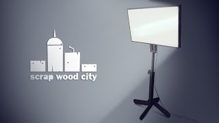 DIY video light with dimmable LED strips
