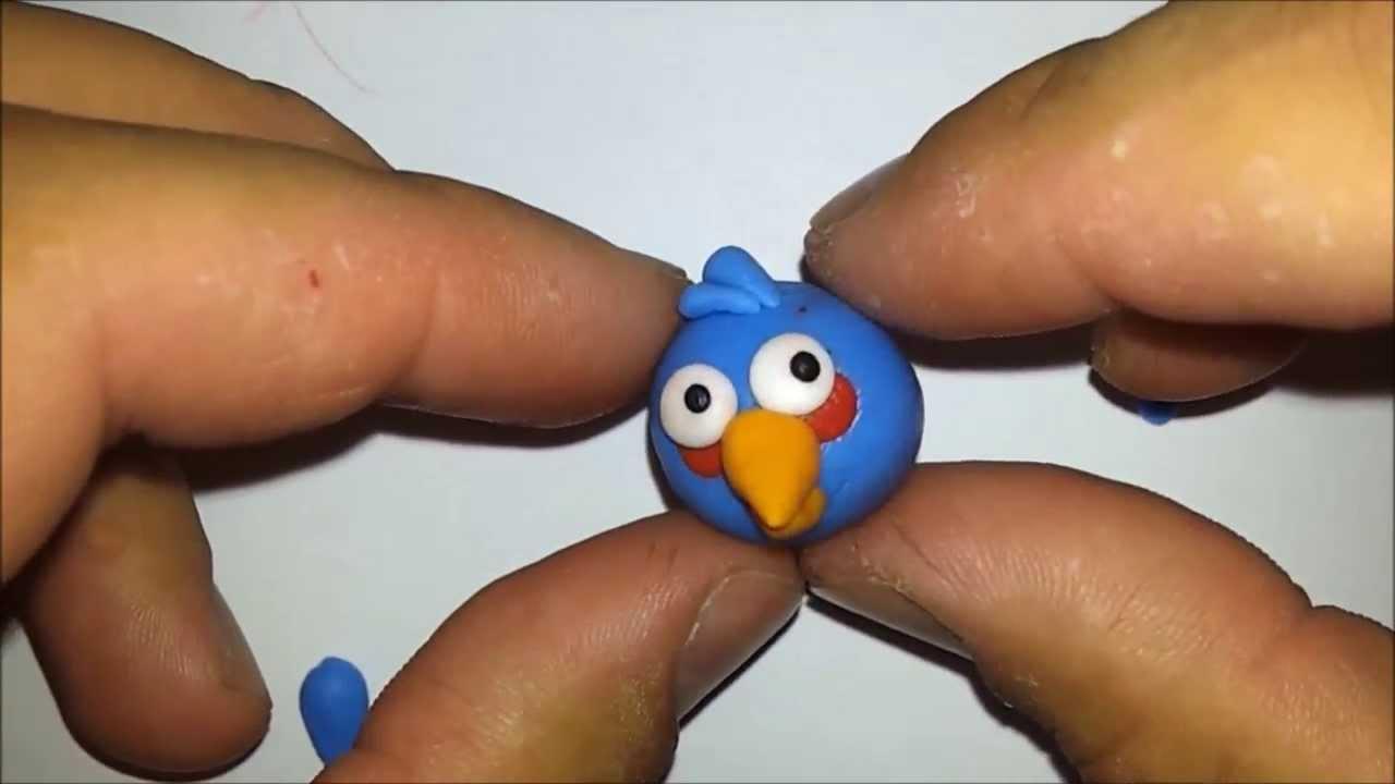 Как сделать из пластилина птичку фото 943