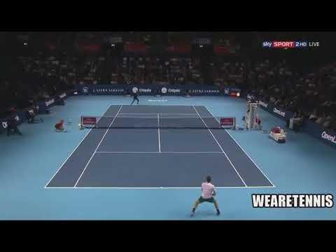Federer vs Tiafoe Basel Indoors 2017 Highlights