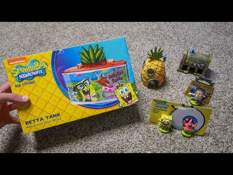 SPONGEBOB THEMED FISH AQUARIUM KIT!!!