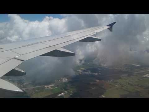 United A319 KIAH Arrival/Landing