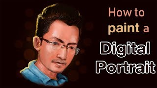 DIGITAL PORTRAIT painting tutorial Photoshop