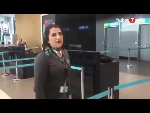 Havalimanında Kadın Yolcu Görevliye Hakaretler Etti