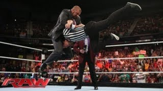 Triple H interrupts Mr. McMahon's message for Brad Maddox: Raw, August 12, 2013