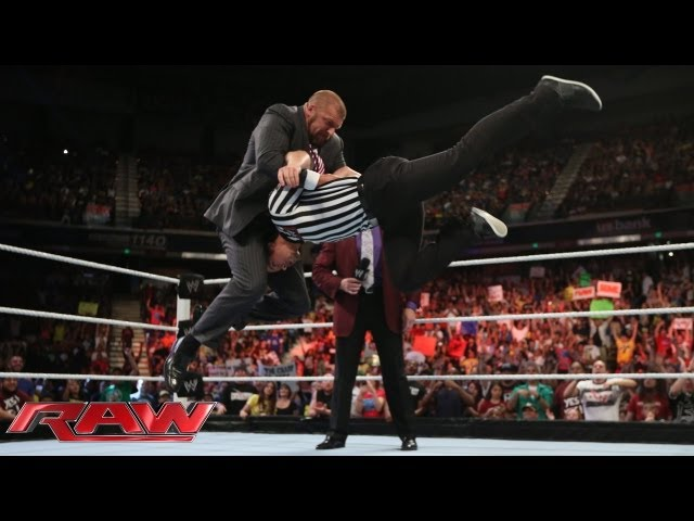 Triple H interrupts Mr. McMahon's message for Brad Maddox: Raw, August 12, 2013 Travel Video