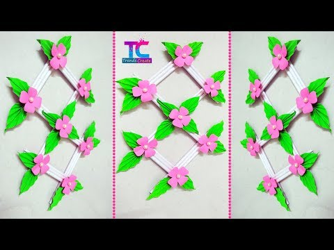 Diy paper flower wall hanging  || How To Make paper flower wall hanging || Wall Decoration ideas