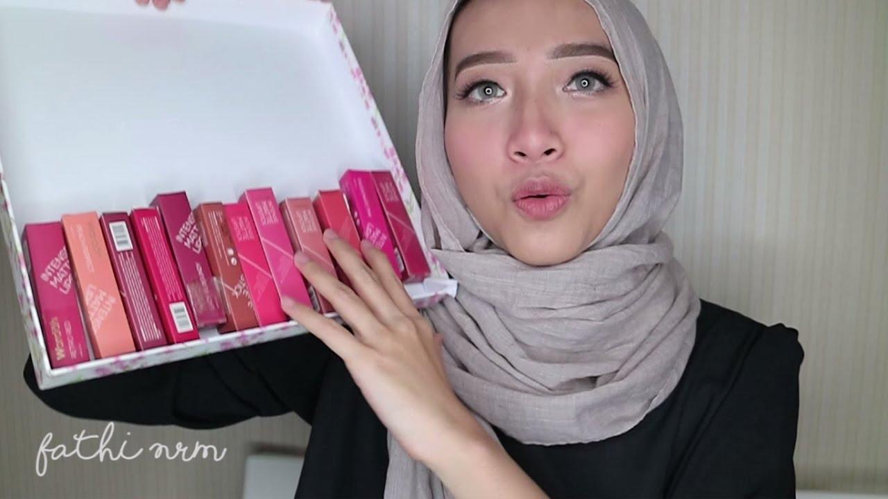 Wardah Intense Matte Lipstick Review Swatches Fathi Nrm Youtube Lipstik