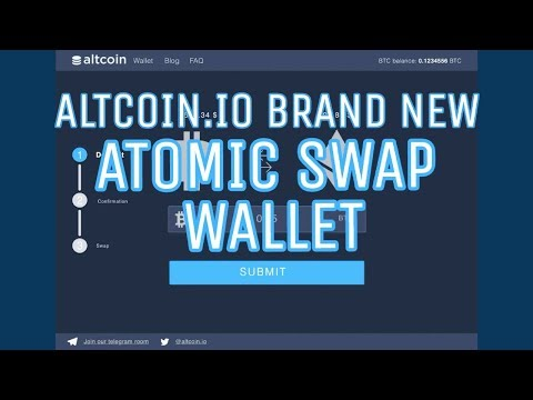 "Altcoin ""ATOMIC SWAP"" Wallet! The Future of Altcoin Exchanges."