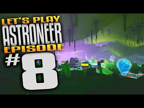 Astroneer Gameplay - Ep 8 - Underground Base Exotic Planet! (Let's Play Astroneer Gameplay)